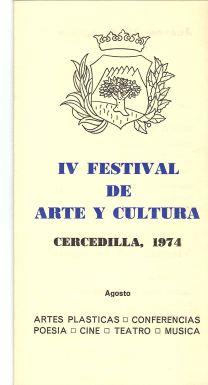 1974 IV Festival de Arte y Cultura