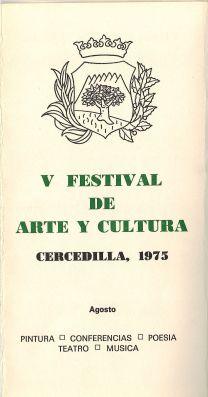 1975 V Festival de Arte y Cultura
