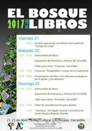 Cartel pograma el bosque de los libros 2017