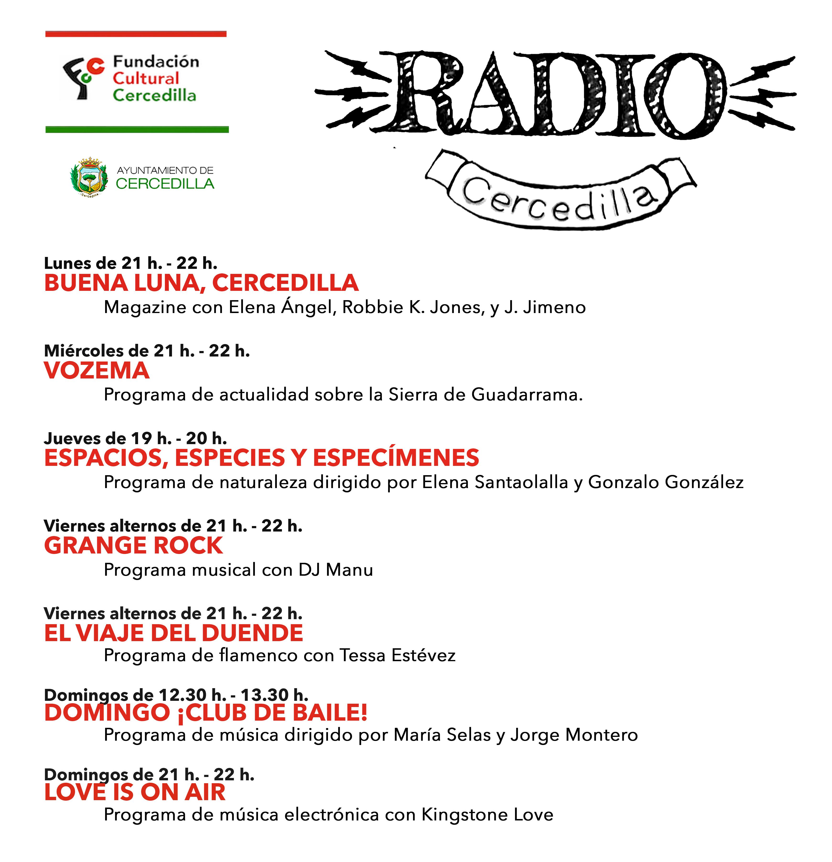 Parrilla radio cercedilla OCT 2021